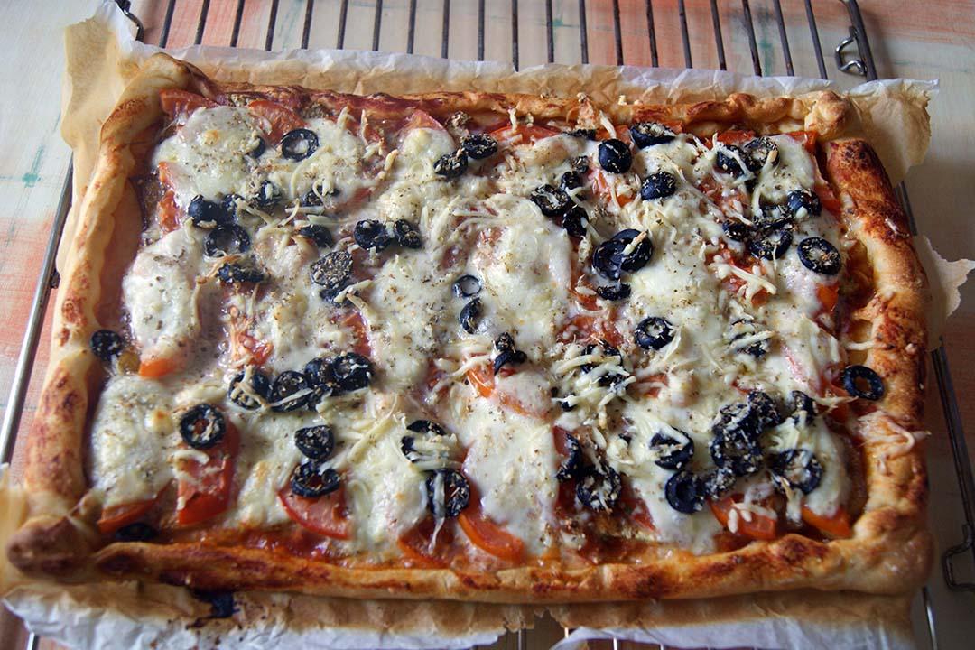 Pizza de berenjenas al horno