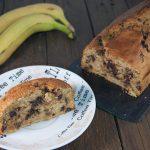 Bizcocho vegano de plátano y chocolate