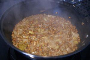 Puré de lentejas con verduras