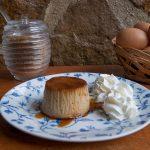 Flan de huevo con azúcar integral