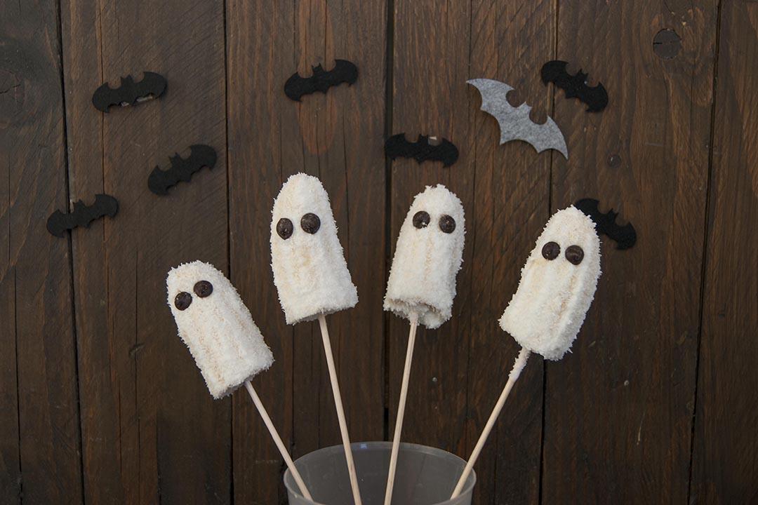 platanos fantasma para halloween