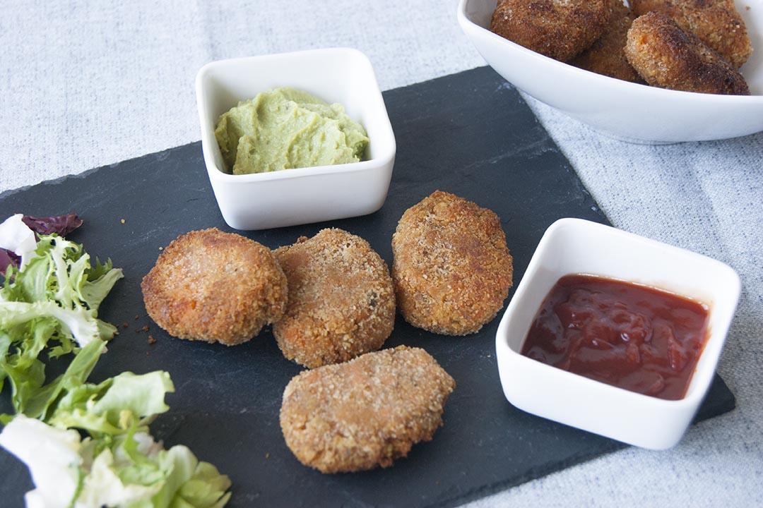 nuggets veganos de boniato