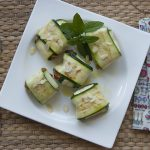 Raviolis de calabacín rellenos de sobrasada vegana