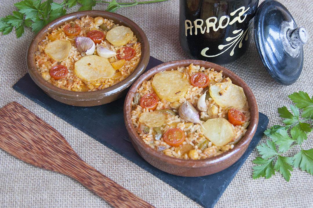 receta de arroz al horno vegano