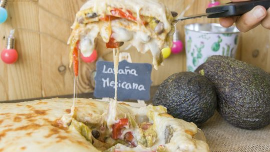lasaña vegetariana mexicana